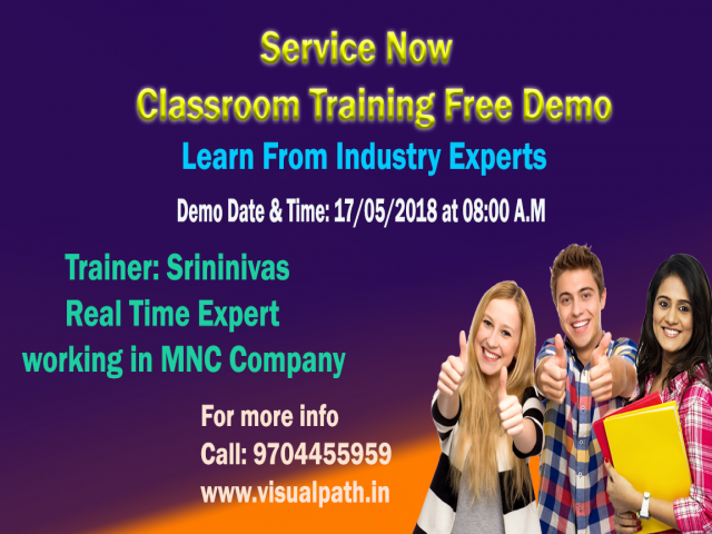 ServiceNow Tool online and Classroom training in Hyderabad