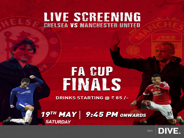 Head to BKC Dive for the live screening of the FA Cup Finals this Saturday
