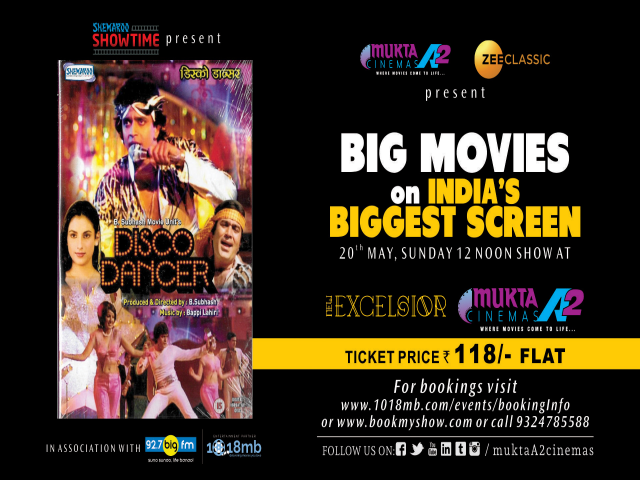 Catch the 80s biggest classic hit Disco Dancer on the big screen