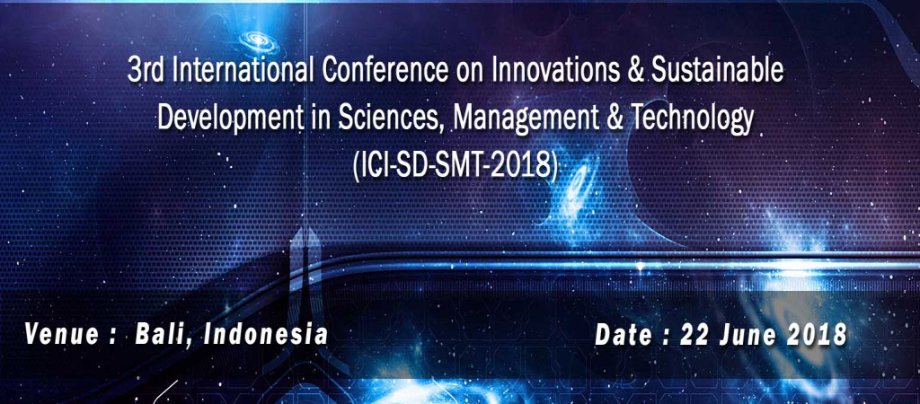 3rd International Conference on Innovations & Sustainable Development in Science