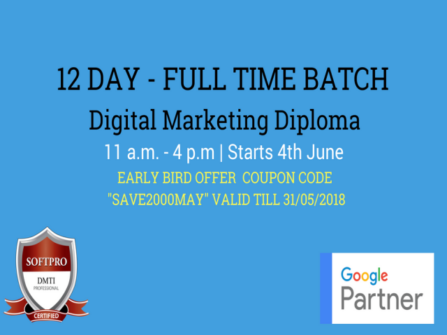 12 Days Fast Track Digital Marketing Course|Full Time Batch with Certification