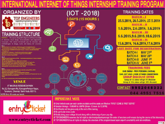 INTERNATIONAL INTERNET OF THINGS TRAINING PROGRAM - 2018