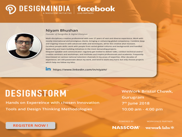 NASSCOM Design4India - Design Storm UX Workshop