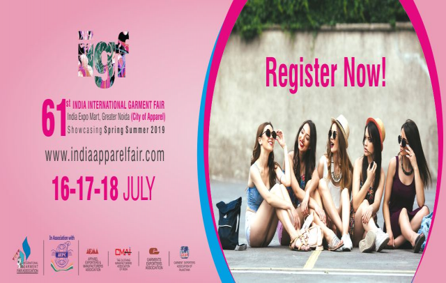 61st India International Garment Fair, 16-18 July 2018, India