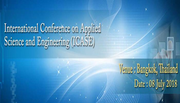 International Conference on Applied Science and Engineering (ICASE) 2018
