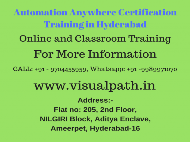 Automation Training in Hyderabad | Automation Online Training
