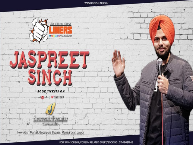 Punchliners: Standup Comedy Show Ft Jaspreet Singh Live in Jaipur