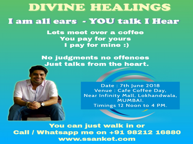 Divine Healing with Spiritual & well Being Coach Ssanket Popat