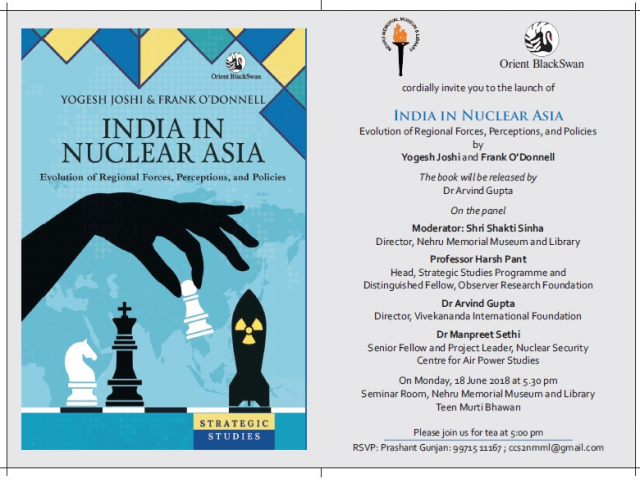 Book Launch: India In Nuclear Asia