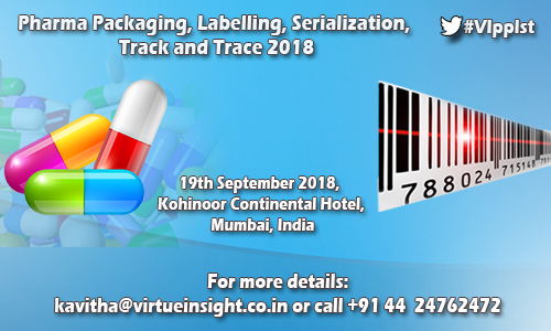 Pharma Packaging, Labelling, Serialization, Track and Trace 2018
