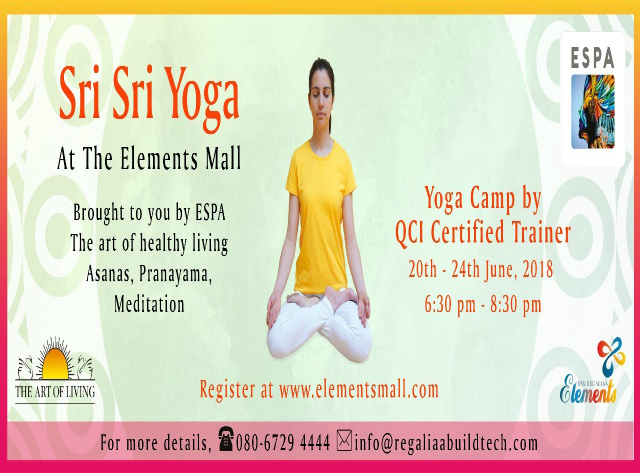 Sri Sri Yoga at Elements Mall
