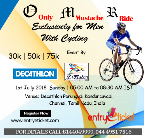 OMR(ONLY MUSTACHE RIDE) - EXCLUSIVELY FOR MEN - WITH CYCLING