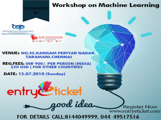Workshop on Machine Learning 2018 | Online Registration on Entryeticket