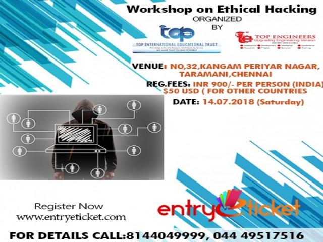 Workshop on ETHICAL HACKING (HACK-2018) | Online Registration on Entryeticket