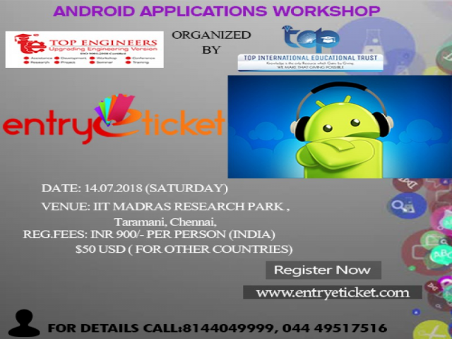 Android applications workshop (ANDROID-2018) | Registration available on Entryet