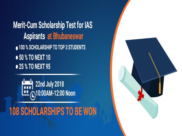 Merit-Cum Scholarship Test for IAS Aspirants at Bhubaneswar