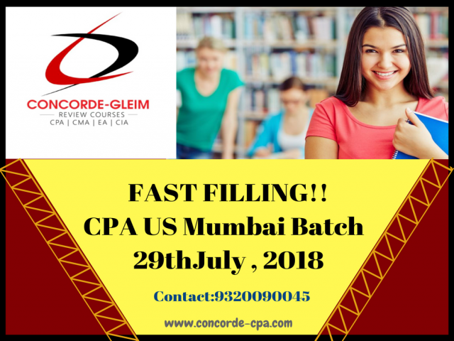 Attention!! Concorde Academics commences a new batch for CPA-US in Mumbai.
