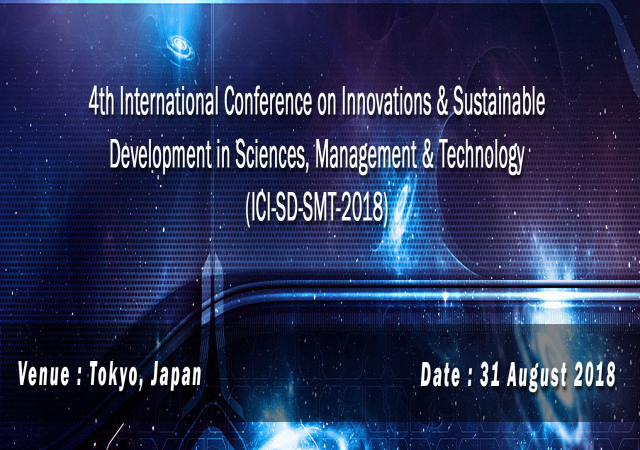 4th International Conference on Innovations & Sustainable Development in Science
