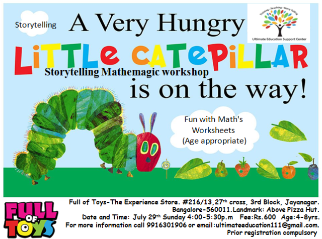 Very Hungry Caterpillar storytelling and puppetry