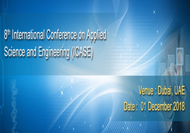 8th International Conference on Applied Science and Engineering (ICASE)