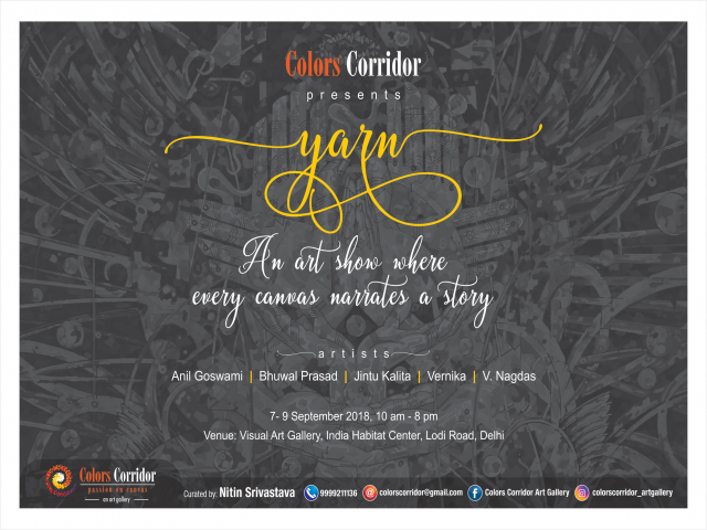 Upcoming Art Exhibition Yarn in Delhi | Colors Corridor Art Gallery