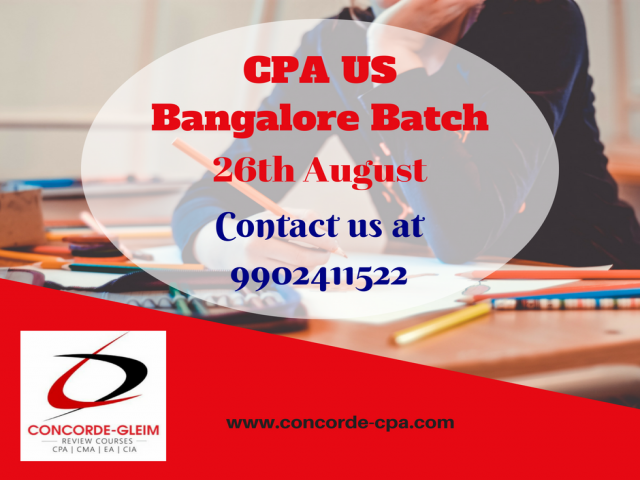 Upcoming CPA US Bangalore  Batch starts on 26th August, 2018