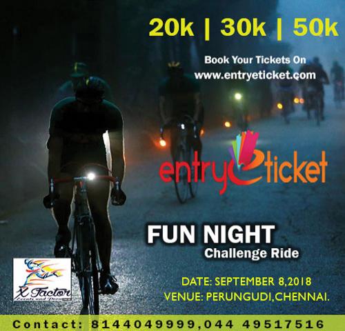 Fun Night - Challenge Ride in Chennai  | Entryeticket