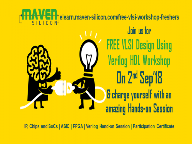 Free VLSI Verilog Hand-on Workshop on 9th Sep'18