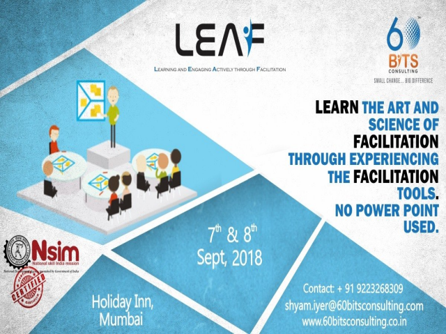 Upcoming LEAF Facilitator Workshop in Mumbai on 7th & 8th September