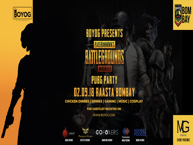 BOYOG Presents Playerunknown's Battlegrounds Mobile PUBG Party