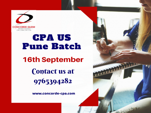 Book Your seat now for upcoming CPA US Pune Batch on 16th September,2018