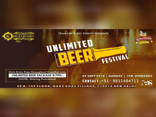 Unlimited BEER Festival | New Delhi, India