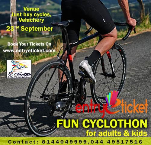 Fun Cyclothon in Chennai  | Entryeticket