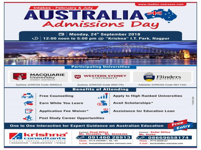 Australia Admission Day - Krishna Consultants Nagpur