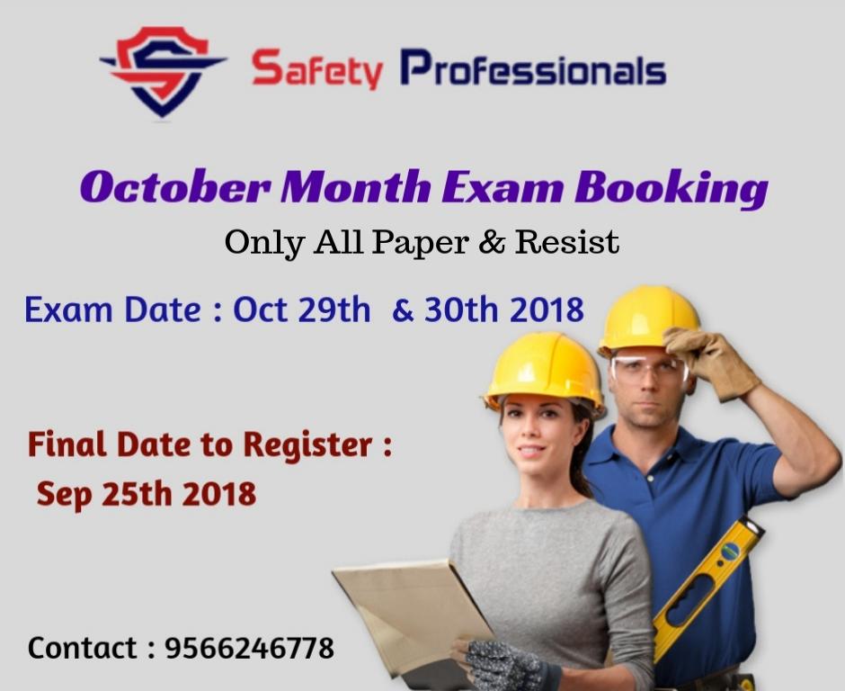 October Month Nebosh Exam Booking