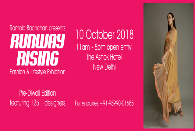 RamolaBachchan Presents RUNWAY RISING Pre Diwali -Fashion & Lifestyle Exhibition