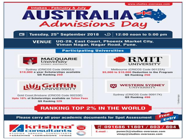 Australia Admission Day - Krishna Consultants Pune