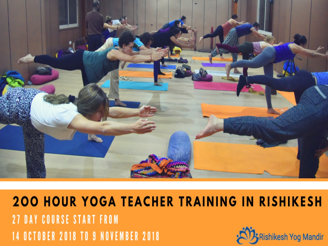Best 200 hour yoga teacher trining in Rishikesh, India