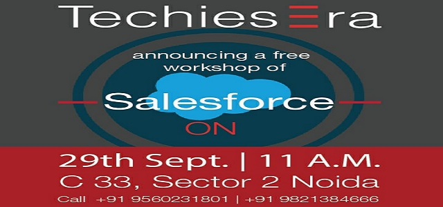 Free Salesforce Programming Workshop in Noida at TechiesEra