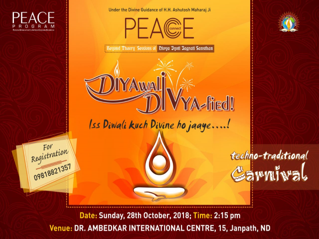 Register for PEACE Corporate Workshop DIVYAfied Diwali Carnival DELHI