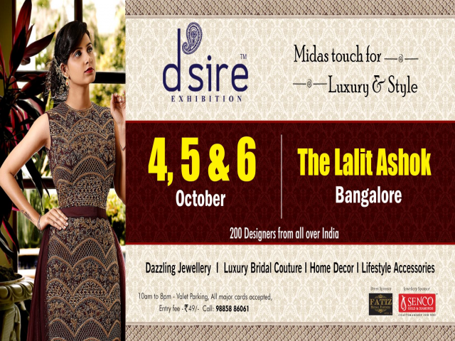 D'sire Exhibitions at The Lalit Ashok, Bangalore