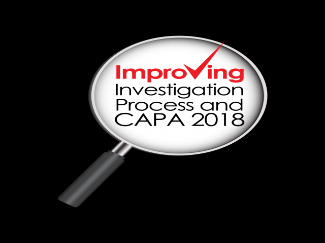 Improving Investigation Process & CAPA 2018