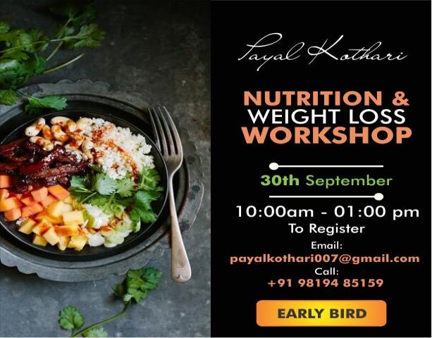 PAYAL KOTHARI NUTRITION AND WEIGHT LOSS WORKSHOP
