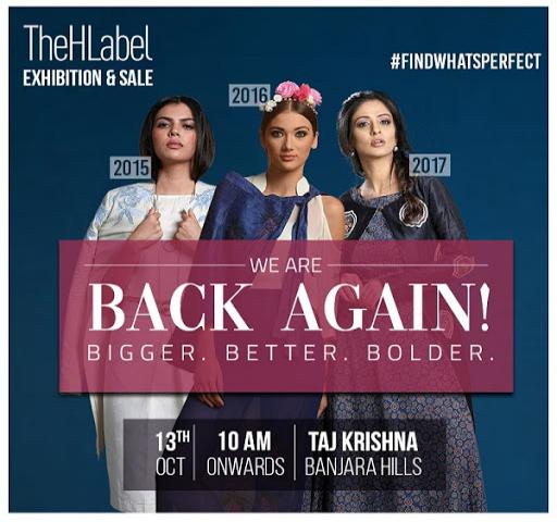 HLabel Exhibition Sale Back Again Taj Krishna, Banjarahills