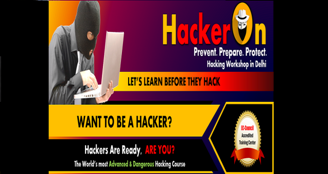HackerOn Ethical Hacking workshop in Delhi