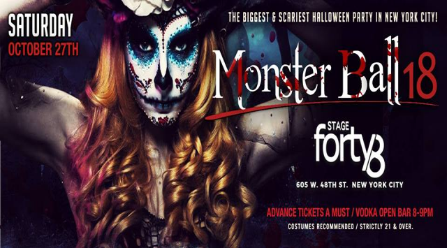 The Monster Ball 2018 - NYC's Biggest Halloween Weekend Party