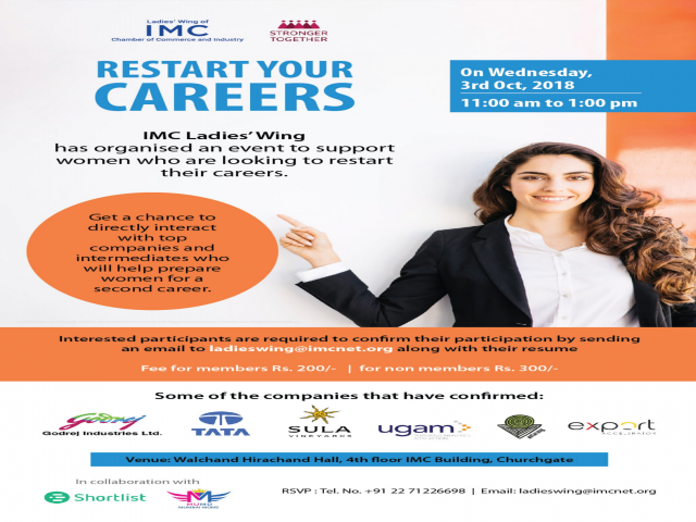 IMC' Ladies Wing encourages women to 'Restart your careers'