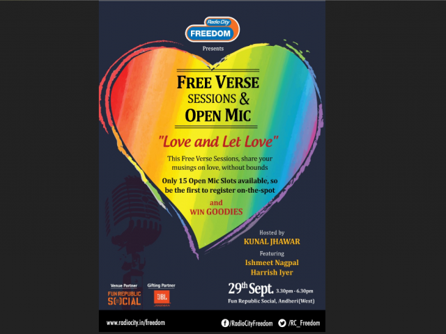 Free Verse Sessions & Open Mic by Radio City Freedom