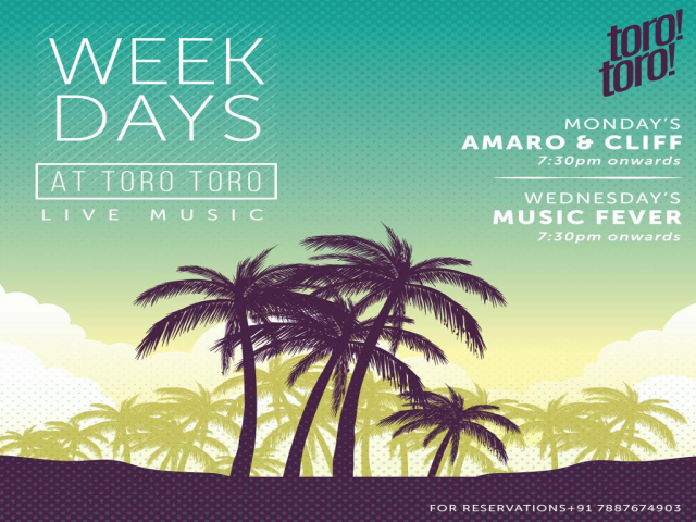 Weekdays at TORO TORO