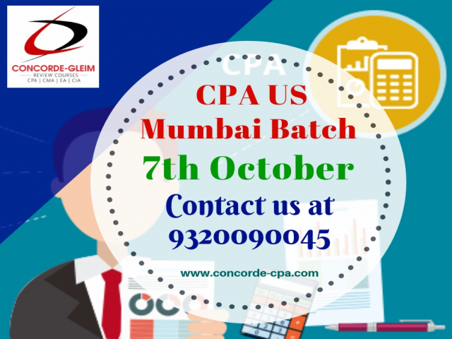 Upcoming CPA US Batch Mumbai on 7th october